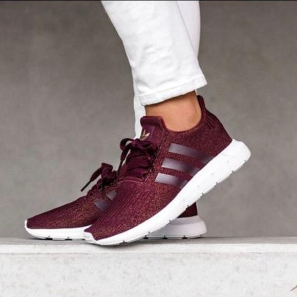 adidas swift run maroon womens